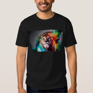 Water color lion tee shirts