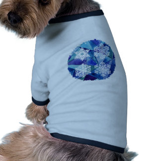 water color painting,ice crystalz,winter,deep blue ringer dog shirt