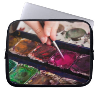 Water color painting laptop sleeves