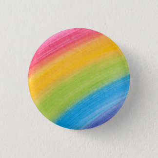 Water Color Rainbow 3 Cm Round Badge