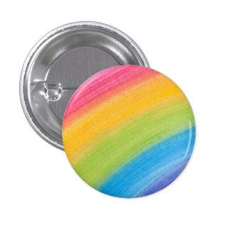 Water Color Rainbow 3 Cm Round Badge