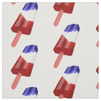 Water Color Red White and Blue Popsicle Fabric