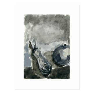 Water Color Still Life Black and White Post card Postcard