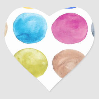 Water colour,big polka dot, funny,cute,girly,trend heart sticker