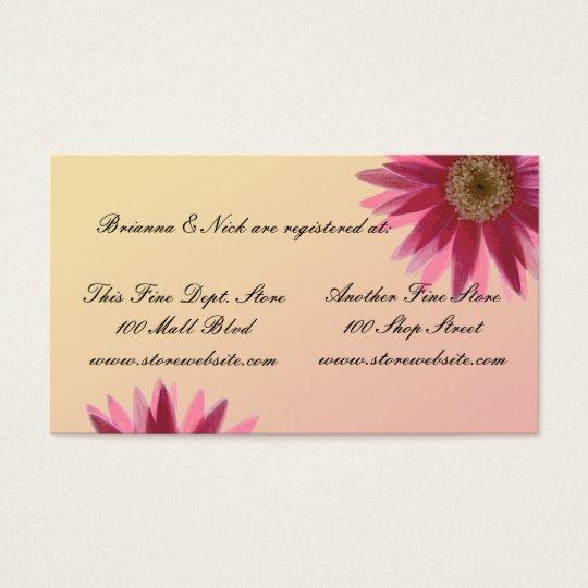 Water colour fuscia daisies business card