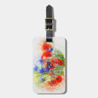 Water Colour Luggage Tag