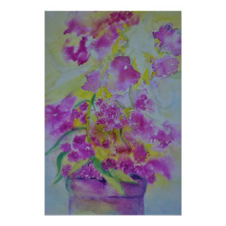 water colour poster flowers
