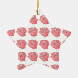 water colour rose christmas ornament