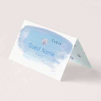 Water Colour Sea Theme Table Place Card