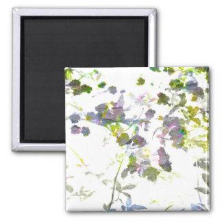 Water colour style romantic flower floral design square magnet
