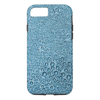 Water Condensation Droplets over Light Blue iPhone 8/7 Case