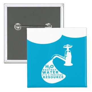Water Conservation 15 Cm Square Badge