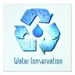 """Water Conservation Invitation 5.25"""" Square Invitation Card"""