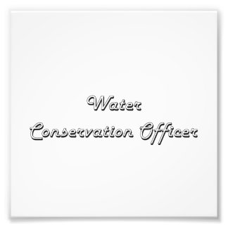 Water Conservation Officer Classic Job Design Photo