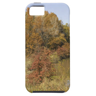 WATER CONTROL DAM AND AUTUMN TREES iPhone 5 CASES