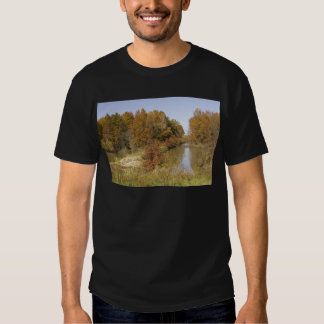 WATER CONTROL DAM AND AUTUMN TREES SHIRT