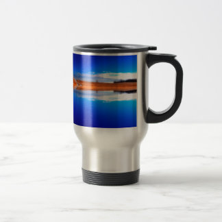 Water Crystal Clear Above And Below Stainless Steel Travel Mug