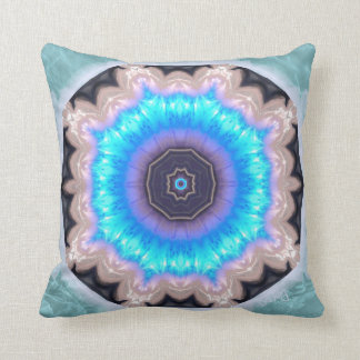 Water Crystal Mandala Pillow