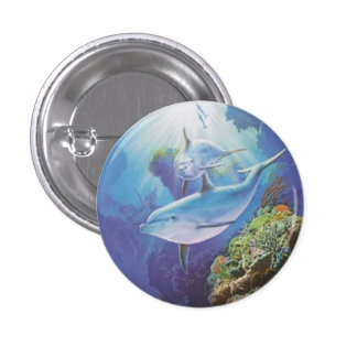 Water Dolphin Button