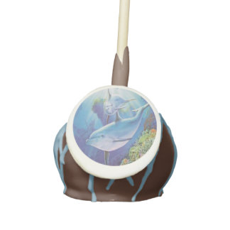 Water Dolphin Cake Pops