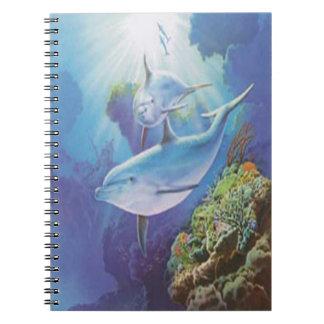 Water Dolphin Spiral Notebook