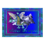 Water Dragon 13 Cm X 18 Cm Invitation Card