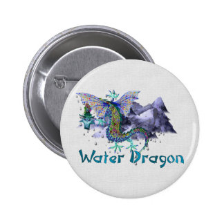 Water Dragon 6 Cm Round Badge