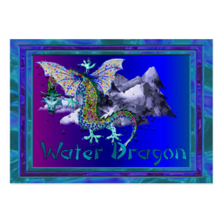 Water Dragon Pack Of Chubby Business Cards