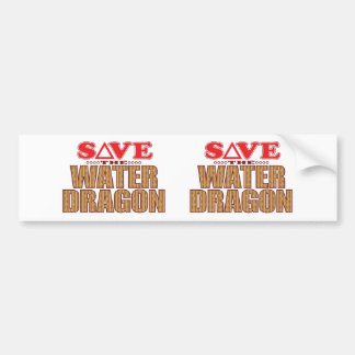 Water Dragon Save Bumper Sticker