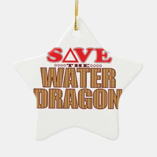 Water Dragon Save Christmas Ornament