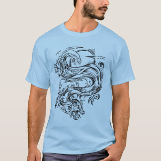 Water Dragon Sketch Style T-Shirt