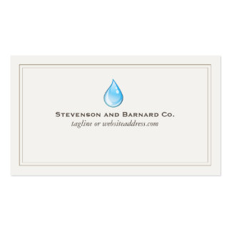 Water Drop Business Card