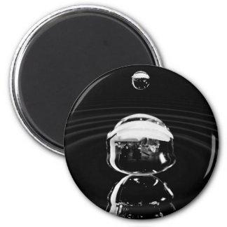 Water drop cause ripple 6 cm round magnet