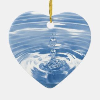Water drop ceramic heart decoration
