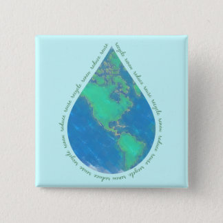 Water Drop Earth Button