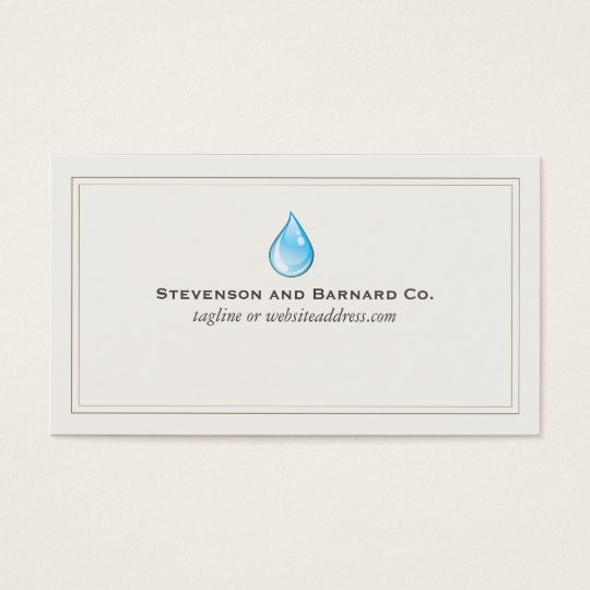 Water Drop Plumber Business Card
