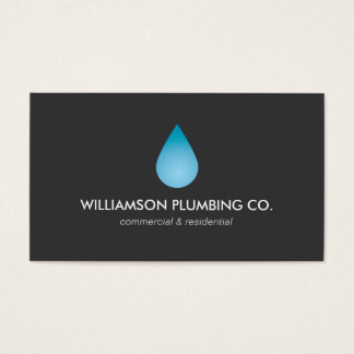Water Drop Plumbing, Plumbers Business Card