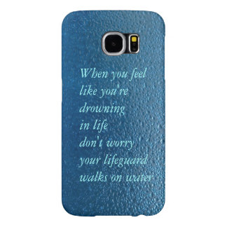 Water drop quote life inspiration samsung galaxy s6 cases