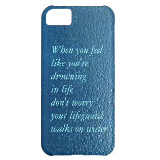Water drop quote life inspiration iPhone 5C case