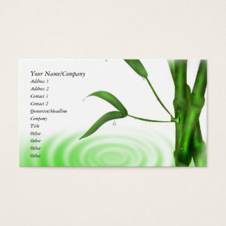 Water Drop Water Ripple Bamboo Business Card