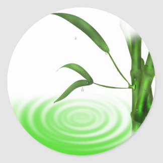 Water drop water ripple bamboo plant  Sticker