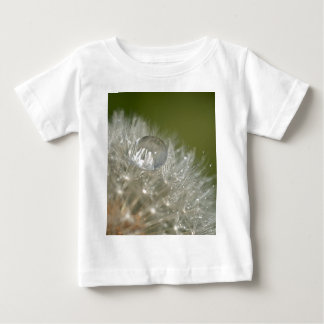 Water droplet on a dandelion baby T-Shirt