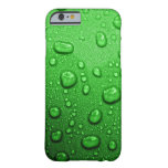 Water droplets on green background, cool & wet barely there iPhone 6 case