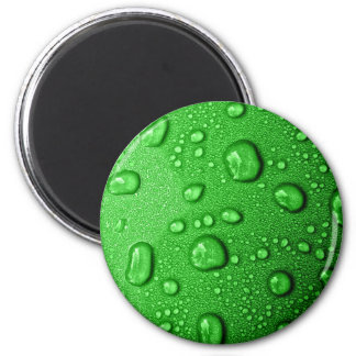 Water droplets on green background, cool & wet magnet