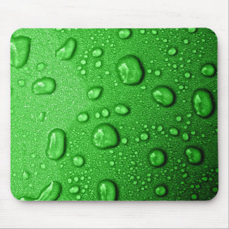 Water droplets on green background, cool & wet mouse pad