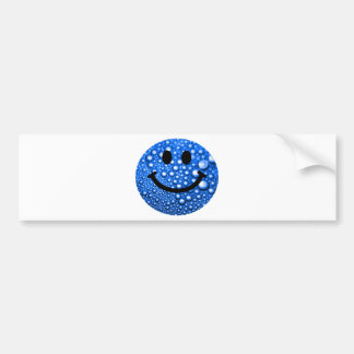 Water droplets smiley bumper stickers