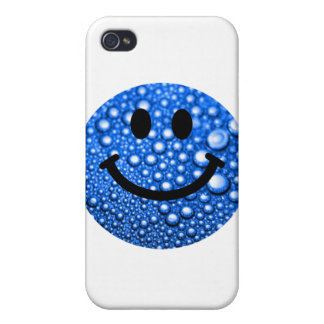 Water droplets smiley iPhone 4 case