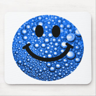 Water droplets smiley mouse mat