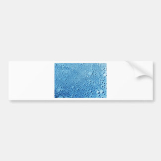Water drops blue background design bumper sticker