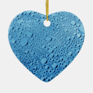 Water drops blue background design ceramic heart decoration